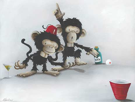 "Fabio Napoleoni-""Best of Times "" - Open Edition- 8"" by 10""-  Paper Giclee Print. - Art Center Gallery"