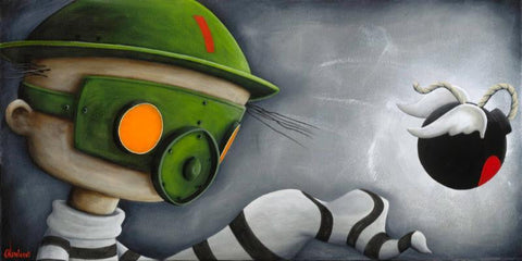 "Fabio Napoleoni-"" Jimmys Revenge"" - Limited Edition Mini 397- 8"" by 16""-  Paper Giclee Print. - Art Center Gallery"