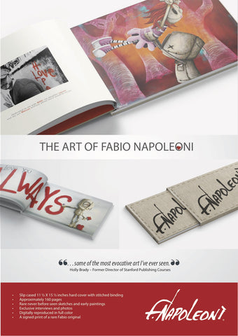 "Fabio Napoleoni "" The Retrospective- Volume 1 Book- First  500 limited & include a rare Print."