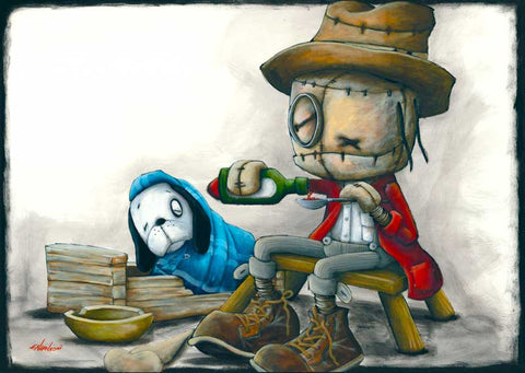 "Fabio Napoleoni ""Bedside Manner, Little Bit of love""  Limited SN Paper -17.5 x 22""  Edition of  55"