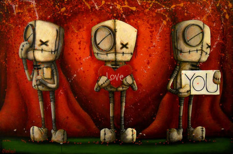 "Fabio Napoleoni-"" I love you "" - Limited Edition  20"" by 30""- Paper Giclee Print. Framed. - Art Center Gallery"