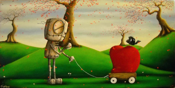 "Fabio Napoleoni-"" Love is in the Air "" - Limited Edition PP - 15"" by 30""- Paper Giclee Print. - Art Center Gallery"