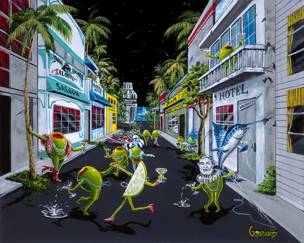 "Michael Godard ""Fantasy Fest Key West"" Limited Edition Canvas Giclee"