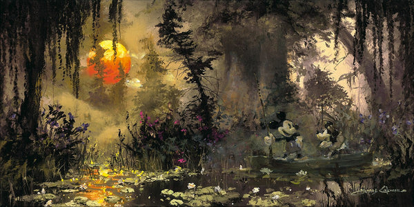 "James Coleman Disney ""Fishing at Lily Pad Lake"" Limited Edition Canvas Giclee"