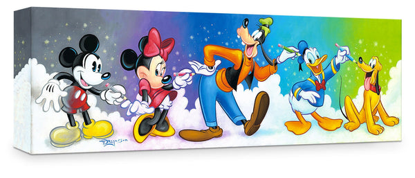 "Tim Rogerson Disney ""Friends by Design"" Limited Edition Canvas Giclee"