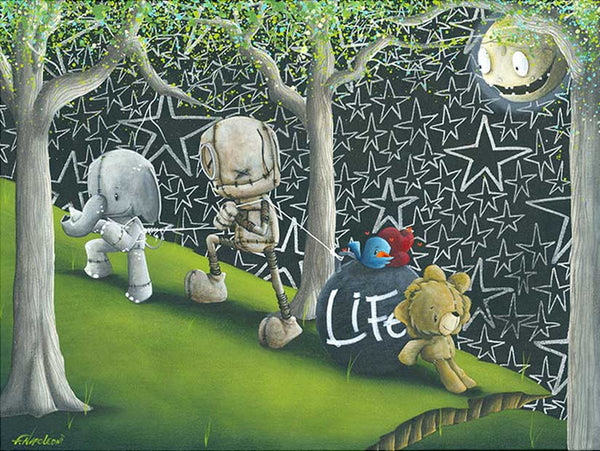 "Fabio Napoleoni-"" That's Life "" - Limited Edition of 122- 18"" by 24""-  Paper Giclee Print. - Art Center Gallery"