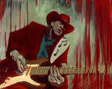 "Gabe Leonard & SRV Tribute ""Whisky Wine & Gin""- Size 24"" by 30 ""- Limited AP Canvas 7 - Art Center Gallery"