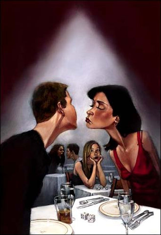 "Gabe Leonard -""The Kiss""- Size 20"" by 30 ""-Limited Edition Canvas Giclee 175 - Art Center Gallery"