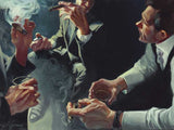 "Gabe Leonard -""Smoke Screen""- Size 22.5"" by 30 ""-Limited Edition Canvas Giclee 175 - Art Center Gallery"