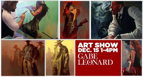 Gabe Leonard Gabe Leonard & Chet Zar Art Show Together December 15th 1-4 PM Live Painting