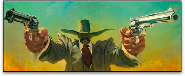 "Gabe Leonard ""Double Fist"" Limited Edition Canvas Giclee"