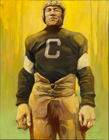 "Gabe Leonard ""Jim Thorpe"" Original on Canvas"