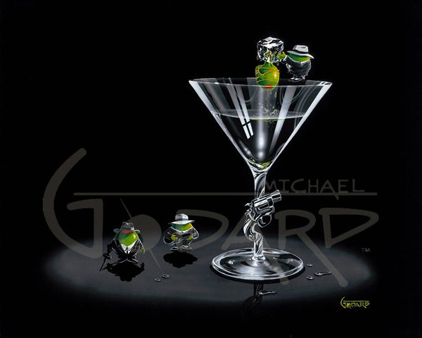 Michael Godard Gangster Martini (2 Shots and a Splash) Limited Edition Canvas Giclee