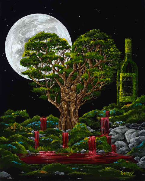 "Michael Godard ""Vineyard of Eden"" Limited Edition Canvas Giclee"