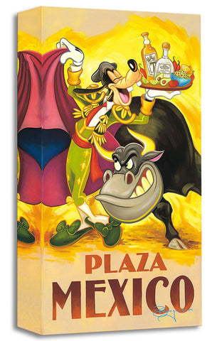 "Tim Rogerson Disney ""Goofy's Plaza Mexico"" Limited Edition Canvas Giclee"