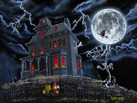 "Michael Godard ""Halloween"" Limited Edition Canvas Giclee"
