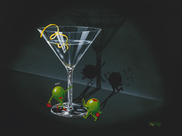 "Michael Godard ""He Devil She Devil Martini with a Twist"" Limited Edition Canvas Giclee"