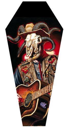 "BigToe ""Hell Billy"" Coffin Shaped Canvas"