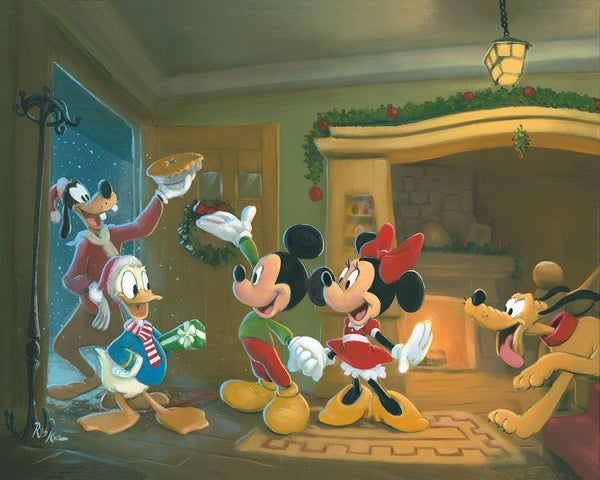 "Rob Kaz Disney ""Home for the Holidays"" Limited Edition Canvas Giclee"