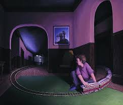 "Rob Gonsalves Rob Gonsalves ""House By The Railroad"" Giclée on Paper  5.75 x 6.75"" Limited 395 Paper and Canvas Giclee"