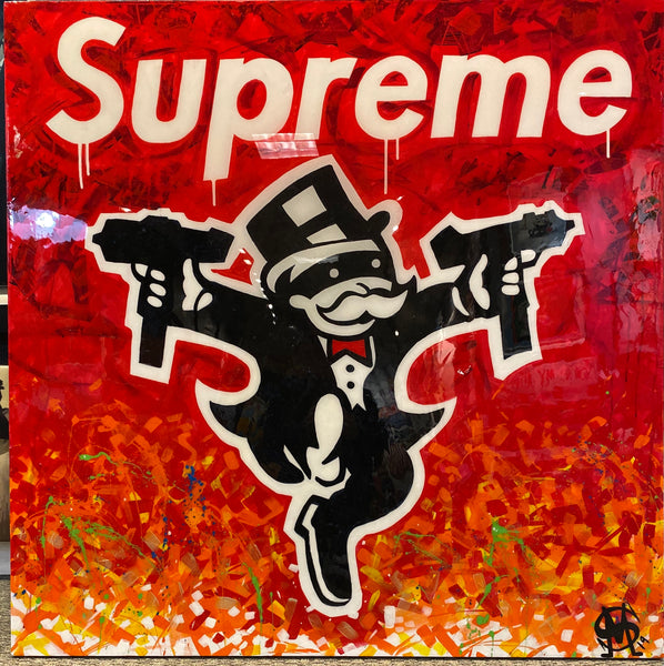 "Sinister Monopoly ""Supremacy"" Original Canvas"