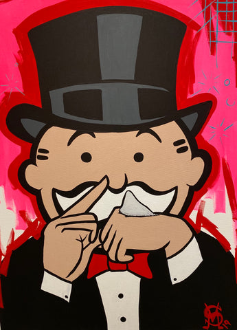 "Sinister Monopoly ""Nose Candy"" Original Canvas"