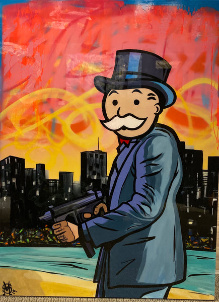 "Sinister Monopoly ""Vice Lord"" Original Canvas"