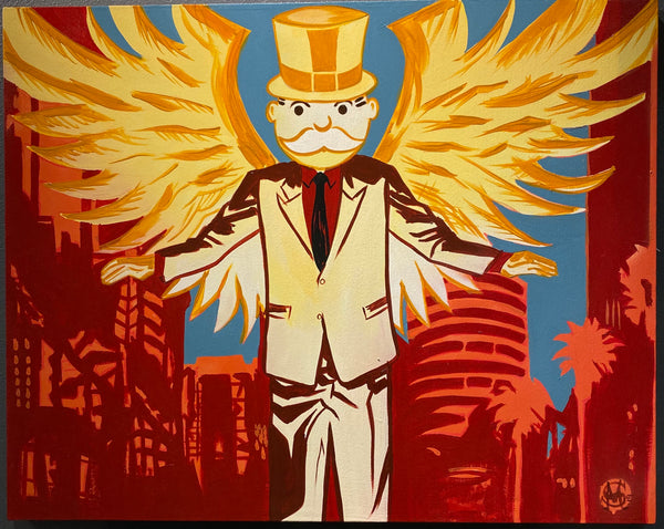 "Sinister Monopoly ""Speak of the Devil"" Original Canvas"