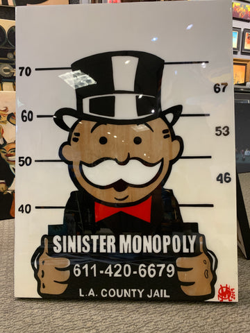 "Sinister Monopoly ""LA County Jail"" Original on Wood"