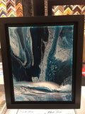 "Ashton Howard Ashton Howard ""Silver Seas"" Size : 10"" by 12"" -  Original Canvas-Framed Original"