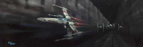 "Star Wars-""Stay on Target"" Canvas 10"" by 30""  Limited-195  Inquire 1-866-254-6523 - Art Center Gallery"
