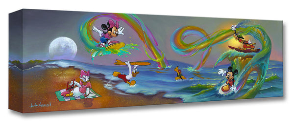 "Jim Warren Disney ""Mickey's Crazy Wave"" Limited Edition Canvas Giclee"