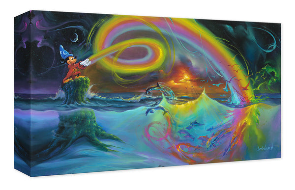 "Jim Warren Disney ""Mickey's Magical Colors"" Limited Edition Canvas Giclee"