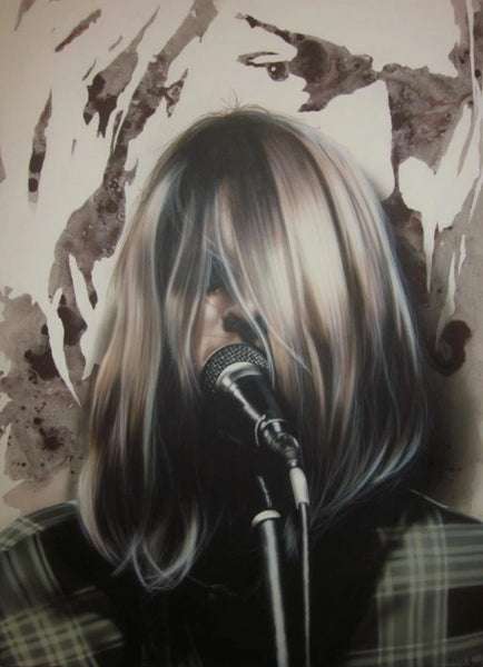 "Stickman ""Come as you are"" (Kurt Cobain) Limited Edition Canvas Giclee"
