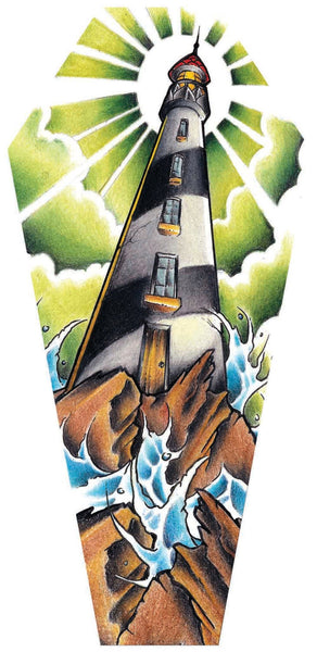 "Jay Boss ""Lighthouse"" Coffin Shaped Canvas"