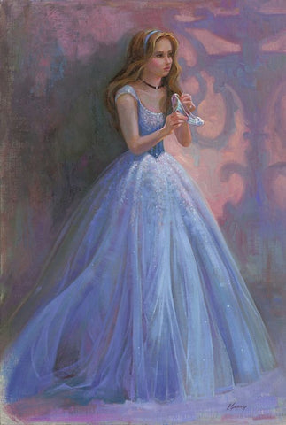 "Lisa Keene Disney ""Glass Slipper"" Limited Edition Canvas Giclee"