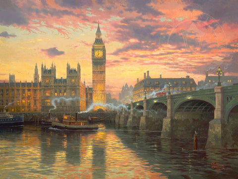 "Thomas Kinkade ""London"" Limited Edition Canvas Giclee"