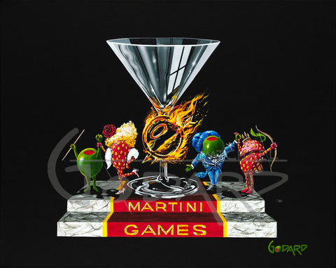 "Michael Godard ""Martini Games"" Limited Edition Canvas Giclee"