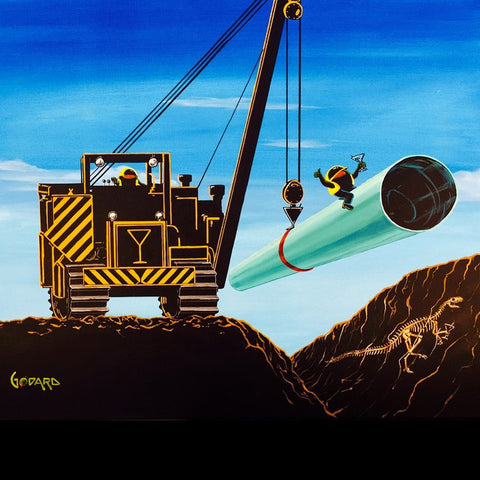 "Michael Godard ""Martini Pipeline"" Limited Edition Canvas Giclee"