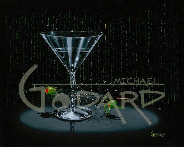 "Michael Godard ""Matrix Martini"" Limited Edition Canvas Giclee"