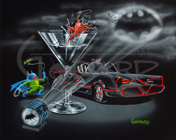 "Michael Godard ""Bat-tini"" Limited Edition Canvas Giclee"