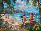 "Thomas Kinkade Studios ""Mickey and Minnie in Hawaii"" Limited and Open Canvas Giclee"