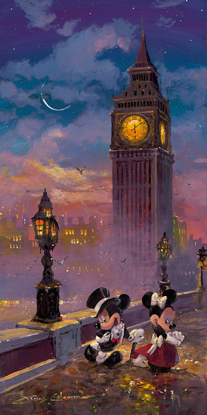 "James Coleman Disney ""Mickey and Minnie in London"" Limited Edition Canvas Giclee"