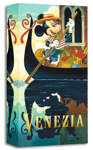 "Tim Rogerson Disney ""Mickey's Venezia"" Limited Edition Canvas Giclee"
