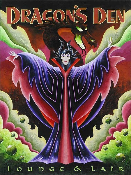"Mike Kungl Disney ""Dragon's Den"" Limited Edition Canvas Giclee"