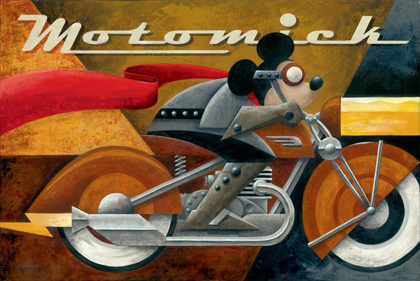 "Mike Kungl Disney ""Moto Mick"" Limited Edition Canvas Giclee"