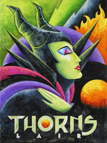 "Mike Kungl Disney ""Thorns Lair"" Limited Edition Canvas Giclee"