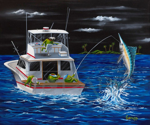 "Michael Godard ""Mike's Marlin"" Limited Edition Canvas Giclee"
