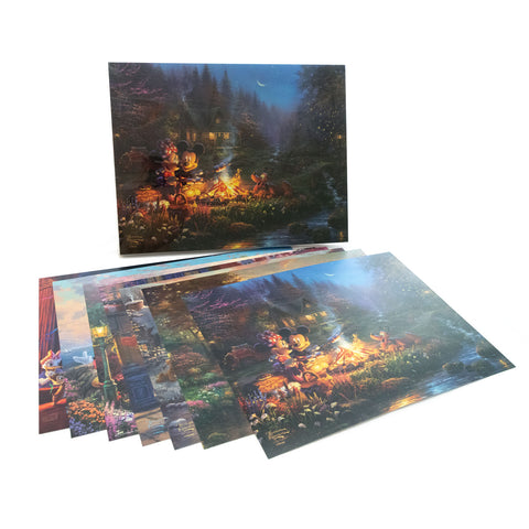 "Thomas Kinkade Studios Disney ""Mickey and Minnie – Sweetheart Folio"" Open Edition Paper Giclee"