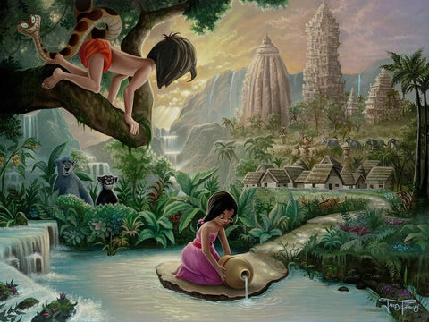 "Jared Franco Disney ""Mowgli's Neighborhood"" Limited Edition Canvas Giclee"